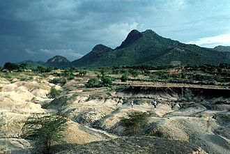 Complex volcano - Homa Mountain, Kenya in 1994