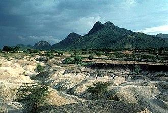 Complex volcano - Homa Mountain, Kenya in 1994