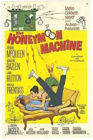 The Honeymoon Machine - Theatrical 1961 film release poster by Reynold Brown