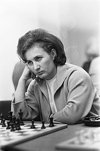Hoogovenschaaktoernooi, de dames van start, mejuffrouw Kozlowskaja uit Rusland, Bestanddeelnr 920-9882.jpg