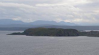 Horse Island, Summer Isles - Horse Island from Badenscaillie