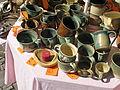 Hrnčířské trhy Beroun 2011, hrníčky z kameniny.JPG