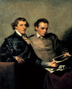 John Codrington Bampfylde - John Codrington Bampfylde (right) with George Huddesford, double portrait by Joshua Reynolds