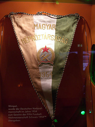 Golden Team - Hungarian pennant for the 1954 World Cup.