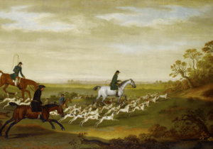 James Seymour - Huntsmen and their hounds by James Seymour, 1750