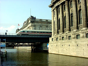 Berlin State Museums - Museum Island: ICE train between Bode and Pergamon Museum