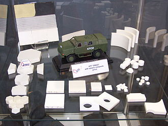 Composite armour - Ceramic tiles for vehicles