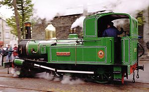 Isle of Man Railway locomotives - No. 1 Sutherland Laxey Station, 1998