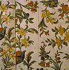 interieur, eerste verdieping, rechter voorkamer, behang, detail - loenen aan de vecht - 20292497 - rce