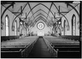 INTERIOR, LOOKING NORTHWEST TO ALTAR - Church of the Nativity, 210 Oak Grove Avenue, Menlo Park, San Mateo County, CA HABS CAL,41-MENPA,2-13.tif