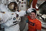 ISS-56 Serena Auñón-Chancellor in the Quest airlock.jpg