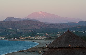 Georgioupoli - View of Georgioupoli and Mount Psiloritis
