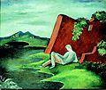 Idylla - krajobraz z lezecym młodziencem.jpg
