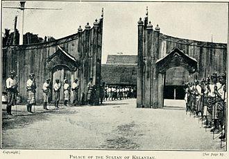 Kelantan Sultanate - Palace of the Sultan of Kelantan, 1912.