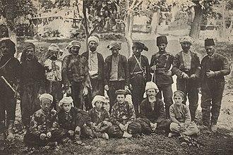 Imerkhevi - A group of Imerkhevians. A photo from N. Marr's travelogue, 1911