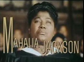 Screenshot of Mahalia Jackson from the film Im...
