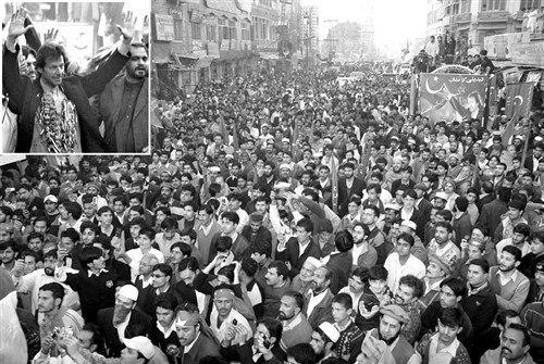 Imran in peshawar