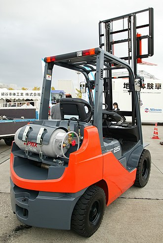 Autogas - An autogas-powered forklift in Japan.