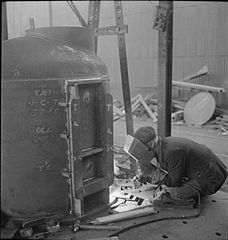 In a British Shipyard- Everyday Life in the Shipbuilding Industry, UK, 1943 DB183.jpg
