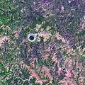 India, Lonar crater, Meteorite Impact, Aerial view.jpg