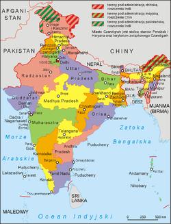 Podział Administracyjny Indii Wikipedia Wolna Encyklopedia