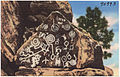 Indian petroglyphs at Manitou Cliff Dwellings, Manitou Springs, Colorado. (7725176532).jpg
