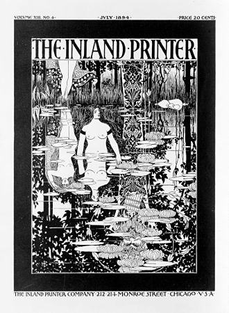 Will H. Bradley - Cover for The Inland Printer (1894)