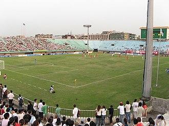 Zhongshan Soccer Stadium - Image: Inside the Zhongshan Soccer Stadium