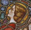 Interieur. Detail glas-in-loodraam van Toorop bij glasatelier Wiegen, Nijmegen - Nijmegen - 20337455 - RCE.jpg