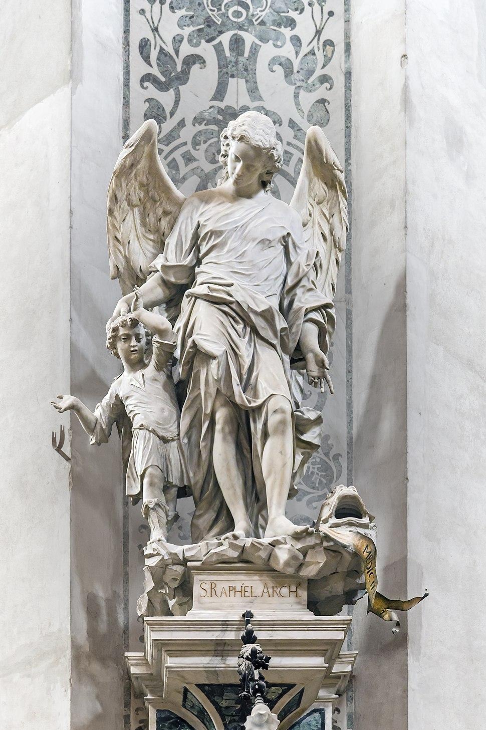 Interior of Chiesa dei Gesuiti (Venice) - Center of the transept - Archangel Raphael