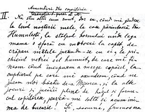 English: Opening page of Amintiri din copilă‎r...