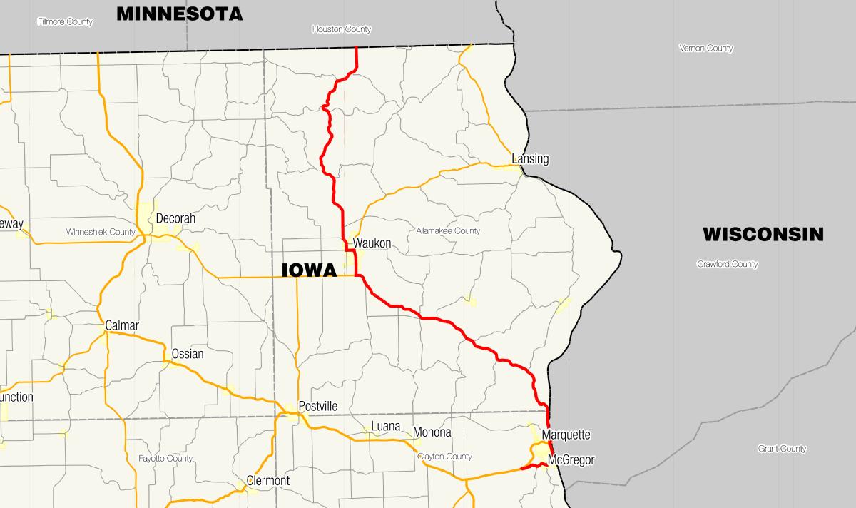 Iowa Highway Wikipedia - Iowa river map