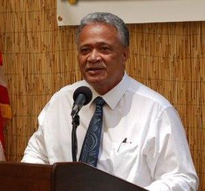 American Samoa gubernatorial election, 2012 - Image: Ipulasi Aitofele Sunias speaking