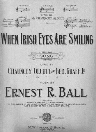 When Irish Eyes Are Smiling - Sheet music cover