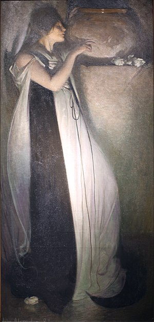 John White Alexander - Isabella and the Pot of Basil, oil on canvas, 1897, Museum of Fine Arts, Boston