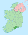 Island of Ireland location map Waterford.svg