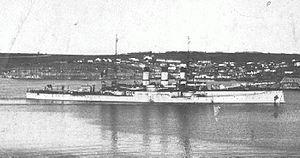 Regina Elena-class battleship - Roma in Constantinople in 1918