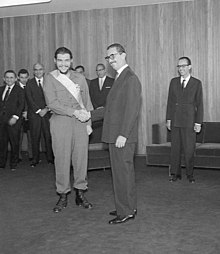 2327a2c410e Brazilian President Jânio Quadros decorated Guevara with the Order of the  Southern Cross in 1961.