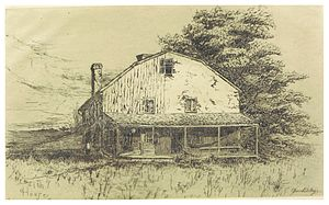 Blanche Dillaye - Image: JENKINS(1884) p 090 THE OLD HOUSE OF OWEN EVANS. LATER THE RESIDENCE OF CALEB FOULKE, AND DR. MEREDITH
