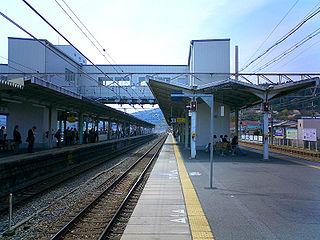 Yamashina Station Railway and metro station in Kyoto, Japan