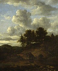 Landscape with river and pines