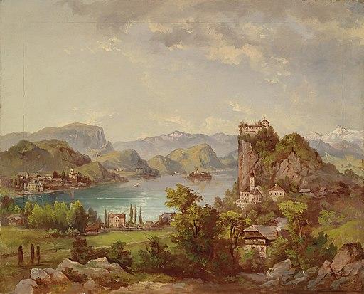 Jakob Canciani Blick auf Veldes