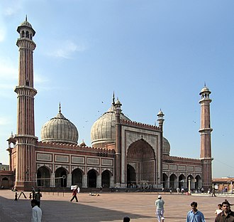 Religion in India - The Jama Masjid in Delhi is one of the world's largest mosques.