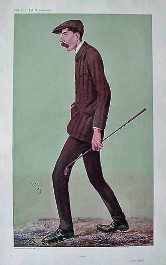 James Braid (golfer) - Braid caricatured by Spy for Vanity Fair, 1907