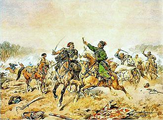 Russo-Polish War (1654–1667) - Jan Chryzostom Pasek in the Battle of Lachowicze (1660), a Juliusz Kossak painting.