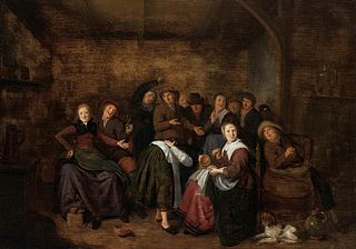 Peasants in an Inn Playing \