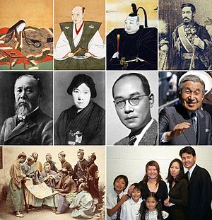 Various Japanese people From left to right of ...
