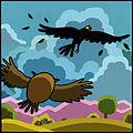Jataka, La chouette et le corbeau - 7.jpg