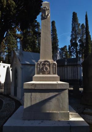 Francisco Joaquim Ferreira do Amaral - Grave of Francisco Ferreira do Amaral, Prazeres Graveyard, Lisbon