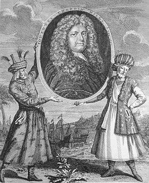 Jean Chardin - Frontiscipe of Voyage du Chevalier Chardin en Perse et autres lieux de l'Orient, 1739.